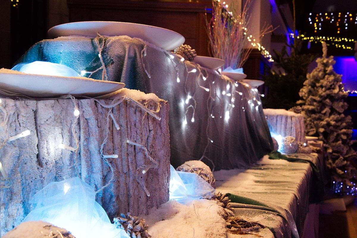 winter wonderland themed venue