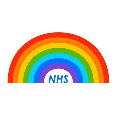 NHS rainbow logo