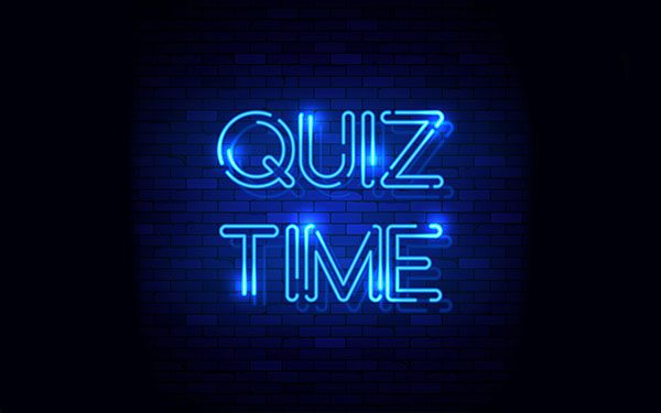 Quiz Time Neon sign